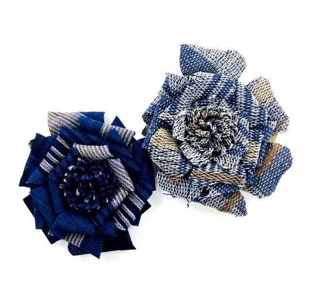 手織りコサージュ(早川)